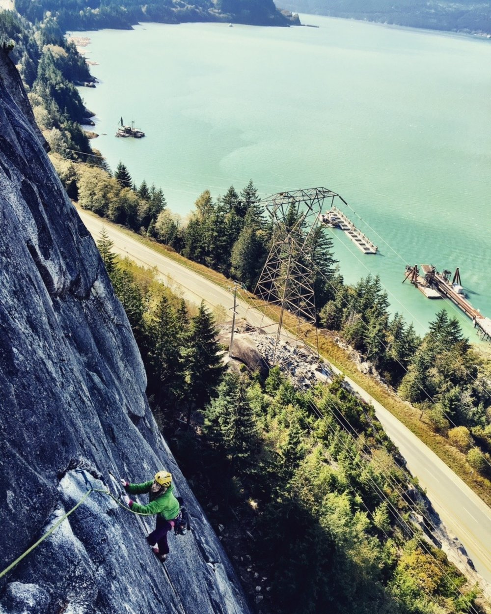 The Prolonged Road Trip Began..... Dave Henkel and I climb in Squamish, British Columbia, Canada