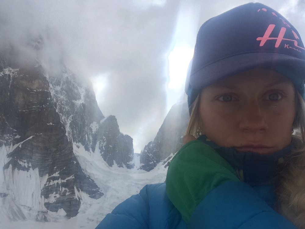 Being there was weird. I didn't know what to do, I stood talking to someone who was there, but not in the present. I felt closer and yet further just not knowing exactly where our boys could be.  I will say that being back home and looking at the daunting photos of the ogres north face that I had I often struggled with the line, Feeling only in moments that it was some sort of suicide mission because it was so technical and at such a altitude.  But as I got closer to the face all that melted away. Of all the Alpine objectives in the Choktoi I  truly felt that the Ogre 2 was a fantastic choice.  Its steep face was protected from slides, The ice and snow systems that zig zagged across the face started with lower angle corner systems and linked into the headwall to an incredible high point on the summit ridge. The Route made sense. It was logical. It was hard and proud, yes. But not impractical or improbable , Shit just happens. Whether it was human error, unsuspected rockfall, or being trapped by the 10 day storm our boys didn't come home, and nothing was going to change that. Why and how the accident happened all of a sudden didn't matter. I regained trust in the boys decisions and abilities and walked away with a little more calm. A little more grace, although I feel I'm still far from graceful with it all.