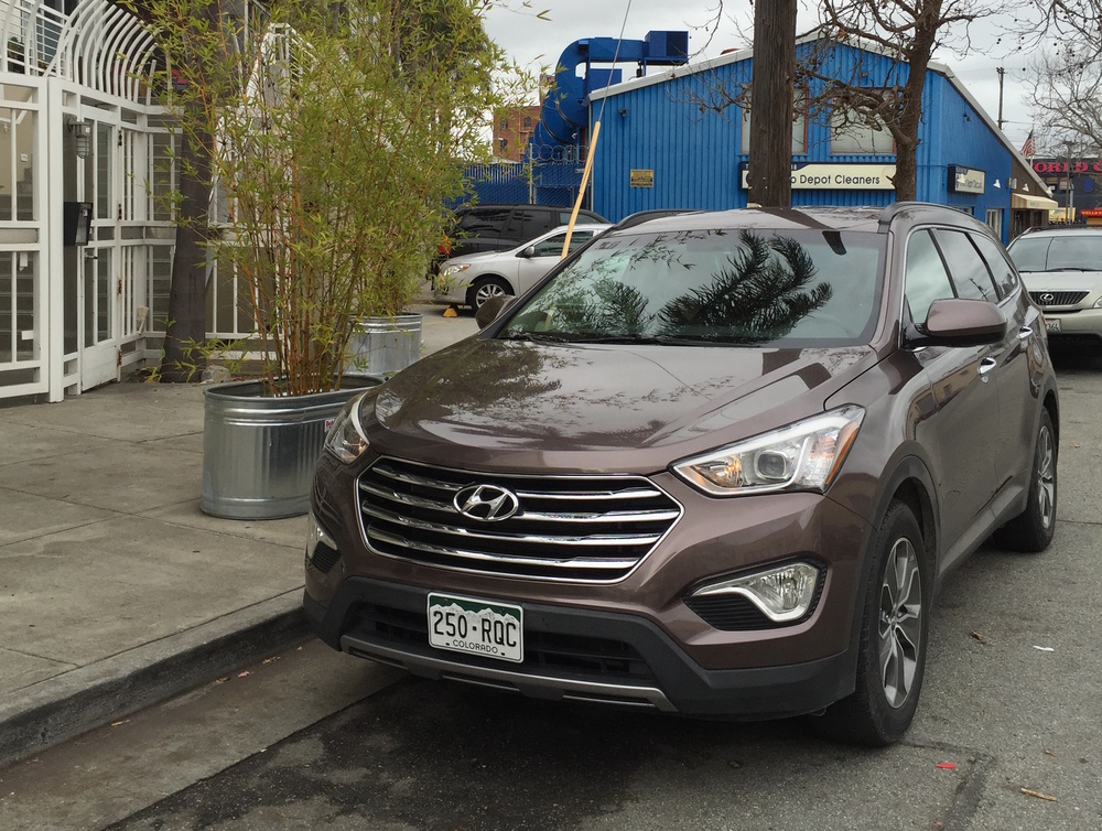 The 2015 Hyundai Santa Fe.