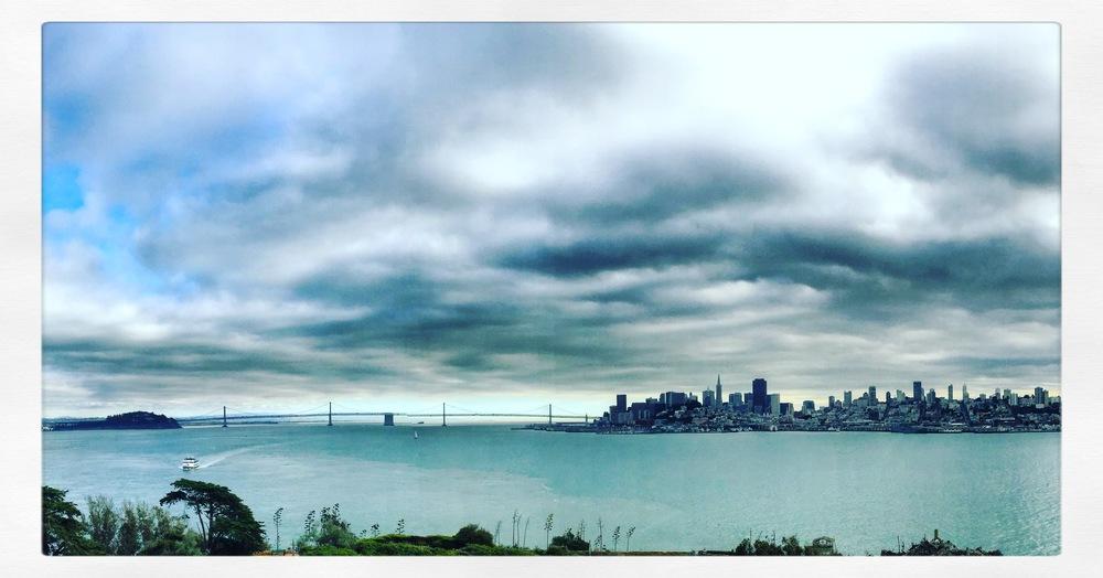 View of San Francisco from Alcatraz Island.
