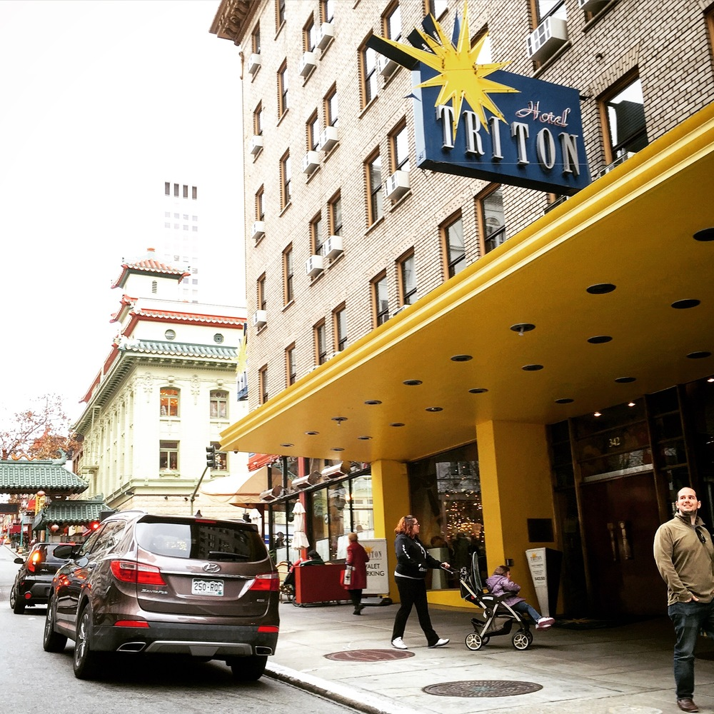 The stylish Hotel Triton in San Francisco