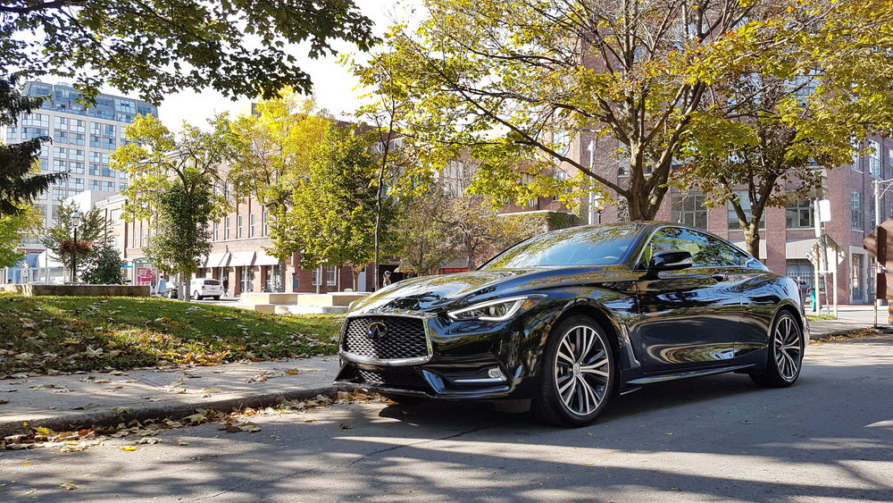 Infiniti says the surface sculpting of the Q60 is meant to evoke a flexed human muscle.