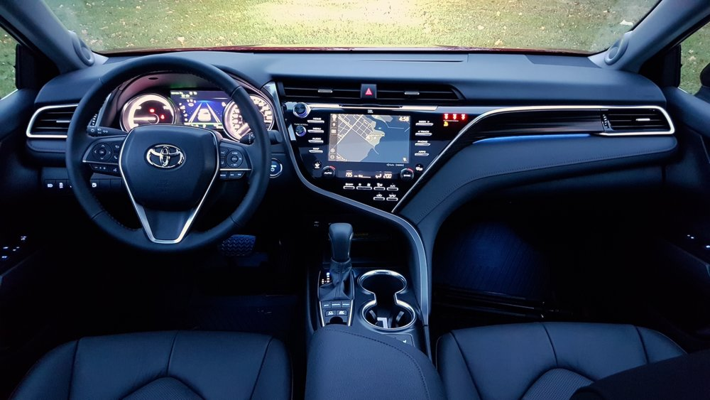 Proof that an interior can be futuristic and still have buttons.