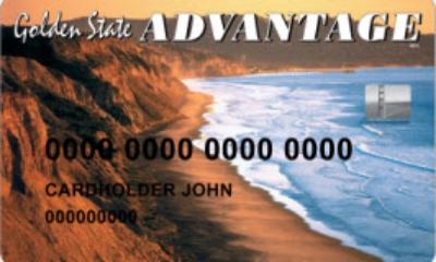 An example of an EBT card from California. From  California EBT Client Site .