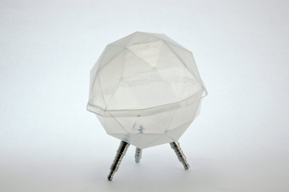 Geodesic Form with Aluminum Legs