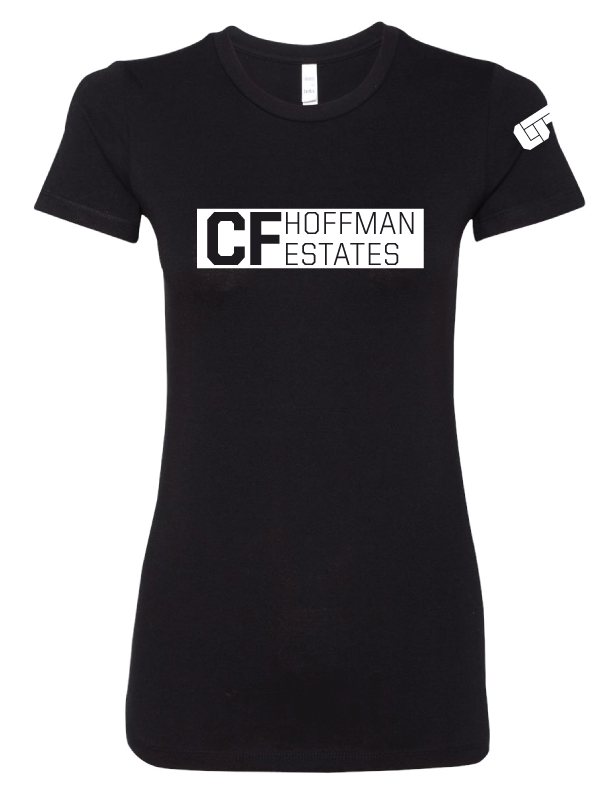 Women's Block Tee – Black