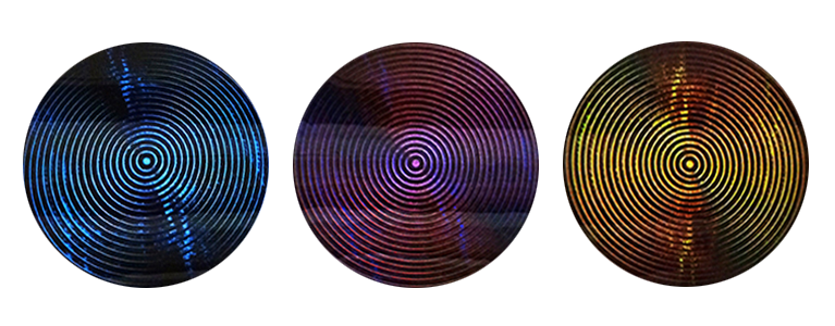 "PRIMARY STATIC | Tryptych - Digital print on 24"" wood discs, sealed in resin. 2014"