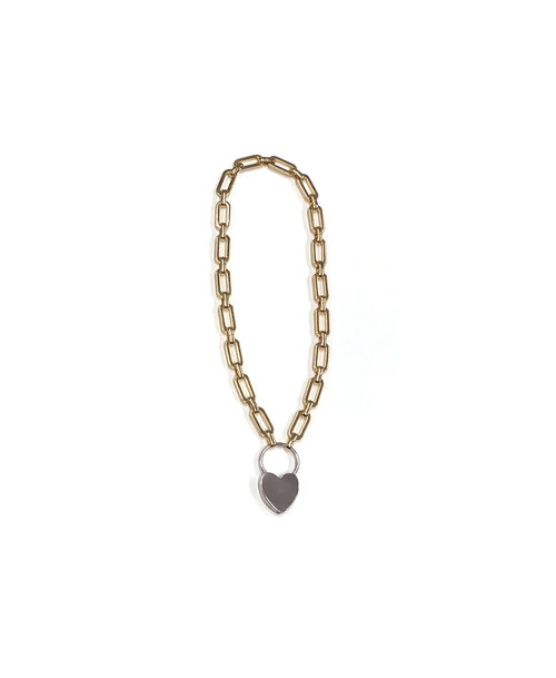 product lyst jewelry eddie padlock necklace in metallic borgo