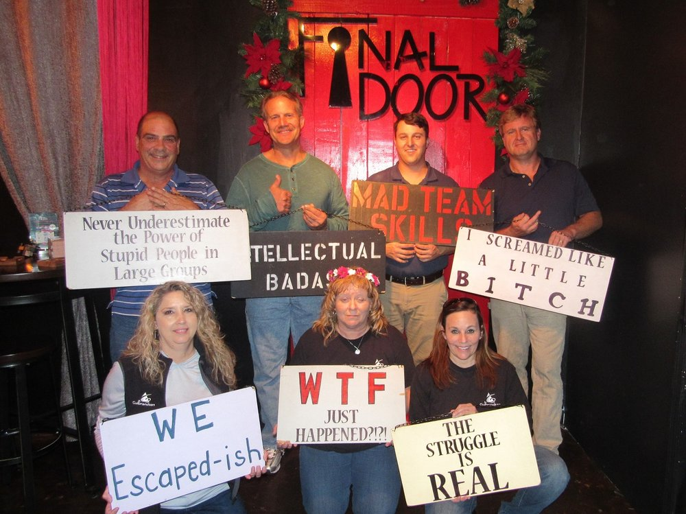 Team Gulbrandsen fastest escape for The Sacrifice standard escape room at The Final Door on Nov 29, 2017