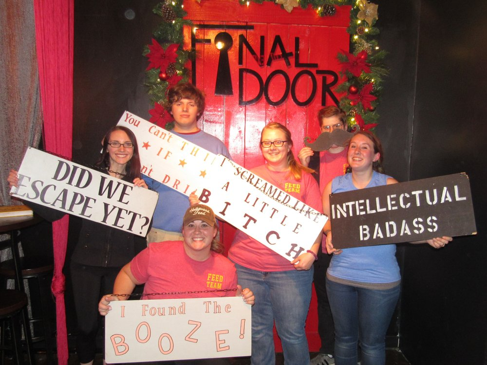 Feed Team Fastest Escape for The Sacrifice standard at The Final Door Escape Room Columbia SC on Nov 20, 2017