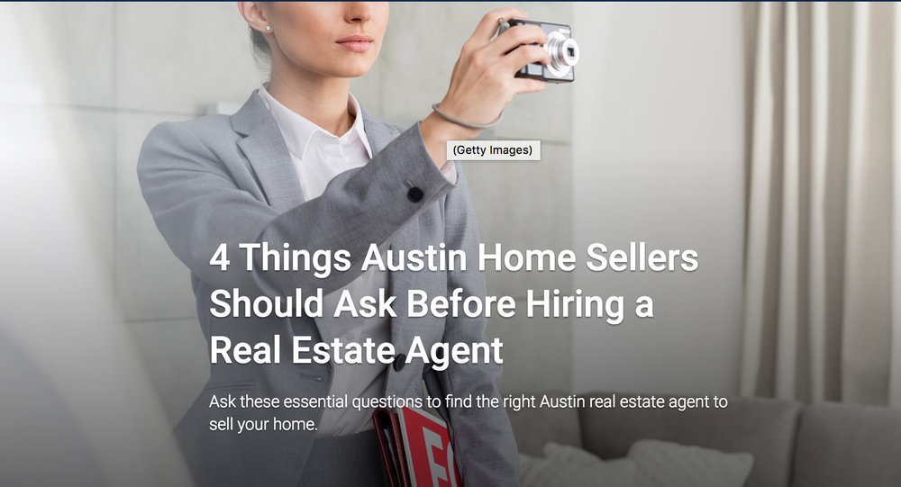 u.s. news & world report (dec 2016): 4 things austin home sellers should ask before hiring a real estate agent
