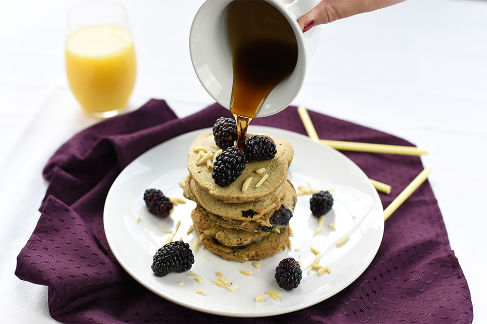 brit + co (jul 2016): your pancake short stack just got a serious aquafaba upgrade