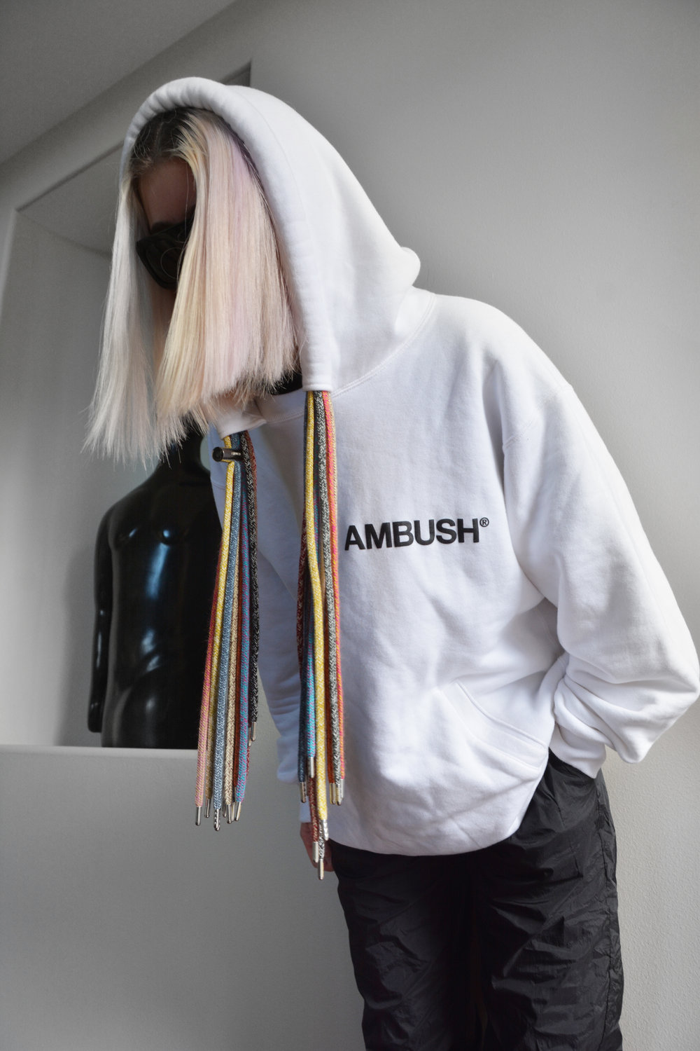 Brand Spotlight: - Our very own STYLEGUISE twin wears Ambush. This Tokyo based jewelry line turned unisex clothing brand debuted their first collection on the Spring/Summer 2019 runway in Paris.Follow: @ambush_officialShop: ambushdesign.com