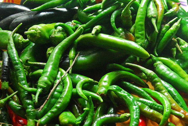 """""""Nature creates the most beautiful things,"""" my mother says. These peppers, again from her vegetable garden, were laid to dry after she brought them home and rinsed the dirt off them. She uses no chemicals whatsoever, only water, sunlight, and her hard work."""