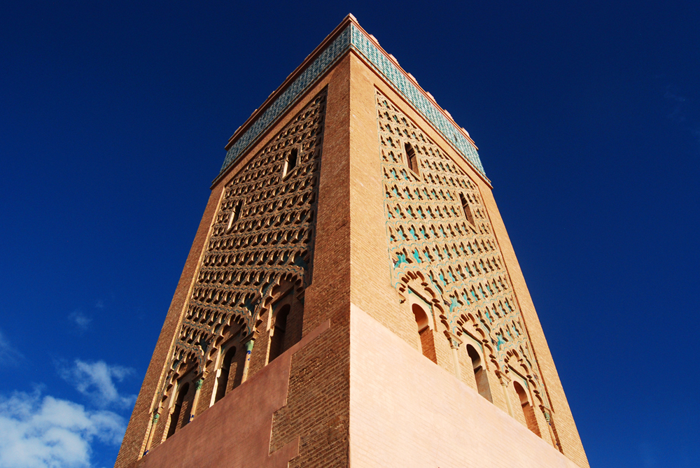 The colors of the Moulay El Yazid Mosque, next to the Saadian Tombs, are elegant and warm on a spring sunny day. Entry to mosques is prohibited to non-Muslim, so I enjoyed the outside of the complex.