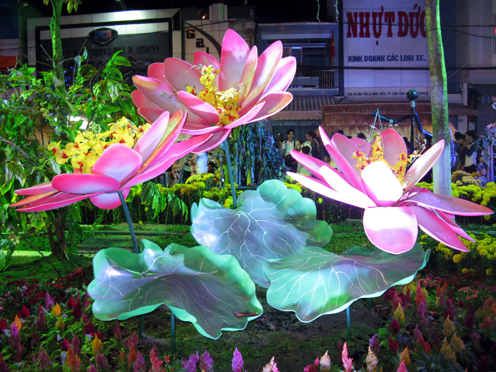Bright and colorful decorations are on display all over Vietnam in celebration of Tet, the Vietnamese Lunar New Year.