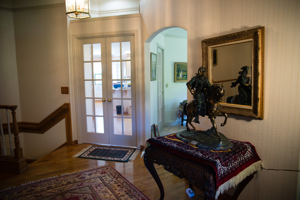 In Bonnie's entryway was an Arab cavalier sculpted by the Nineteenth-century French artist, Antoine Louis Barye.