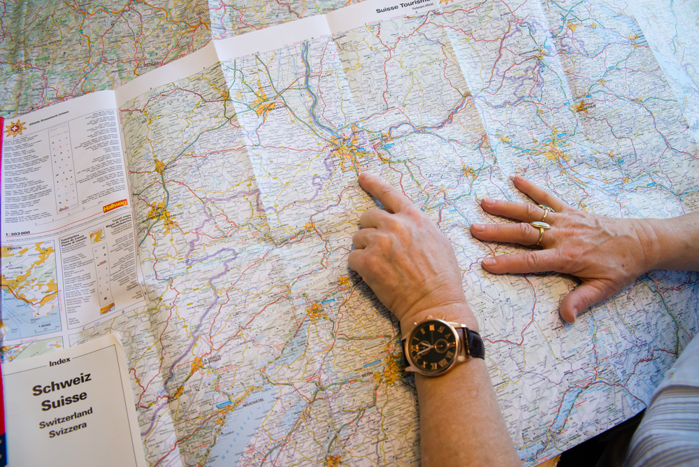 Bonnie ran her finger along different maps and traced the European nursing tour for me.