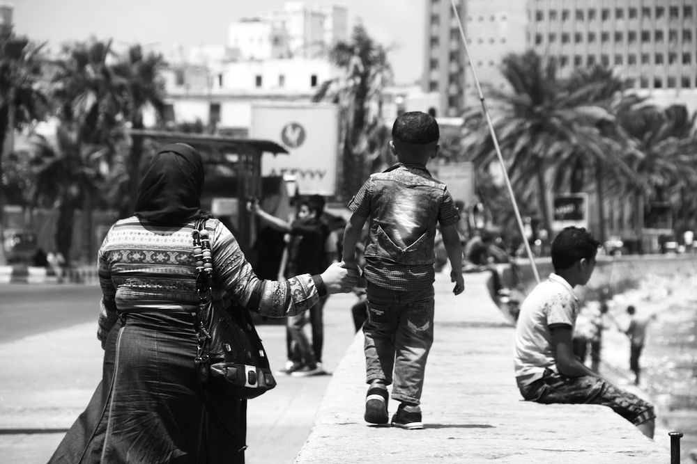 Some of the simplest moments in life are the most beautiful ones. A mother walking in hand with her child, without a man accompanying them. Not a revolutionary thought for Westerners, but a sign of progressive freedom for the women and children of Egypt.