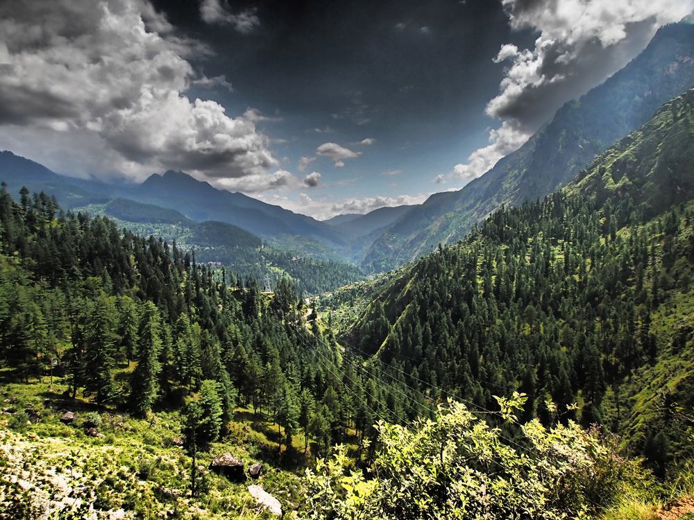 At the end of the four-day trek, the Malana Valley opens out into the Parvati Valley, replete with power lines, a bus service and more expansive views.
