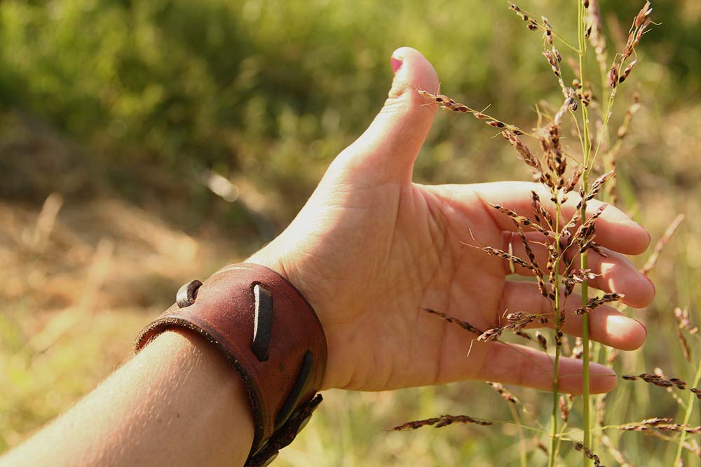 This is a photo I took of my hand caressing a wheat plant. Bread is probably the most important thing for any Greek table to have. The wheat plants are beloved by every Greek, because this truly is the plant of life for us. It has religious symbolism as well as daily importance. No Greek meal is complete without local bread. I loved being in the wheat fields, communing with the nature and breathing in the fresh mountain air. It's a moment I cherish and tucked away in a special corner of my memory.
