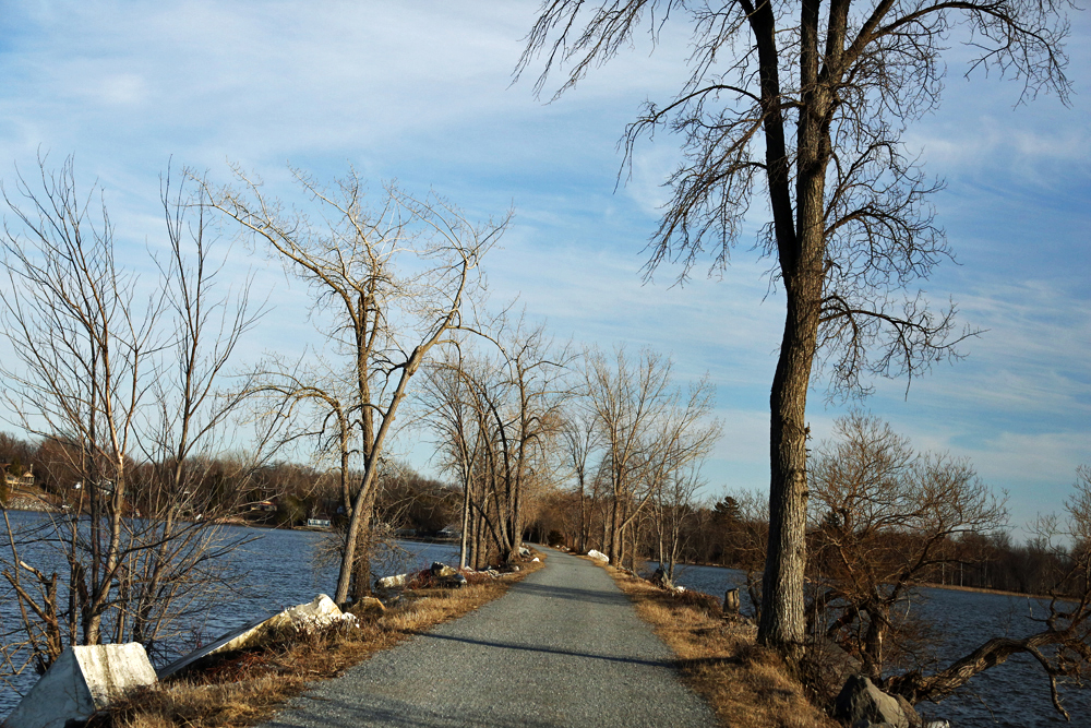 Causeway Bike Path Extends Into Lake Champlain