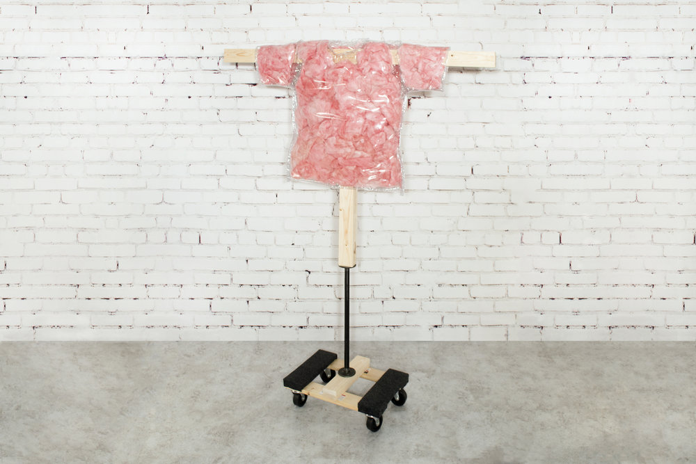 tagless tickled pink insulation tee (L)