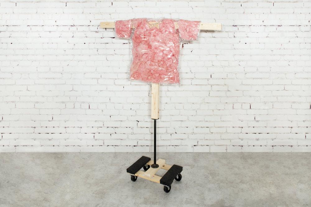 tagless tickled pink insulation tee (L)