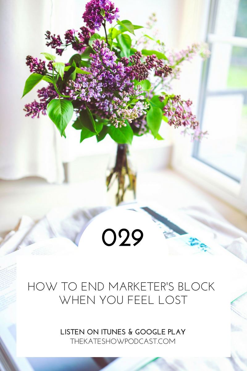 How to End Marketer's Block When You Feel Lost