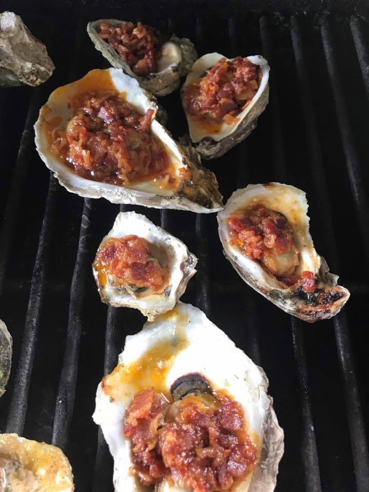 Spicy Bacon Jam Charbroiled Oysters — Cochon Cannery