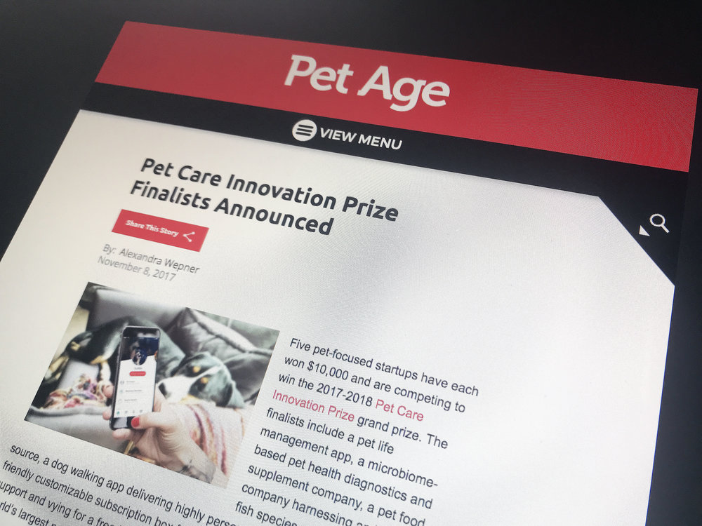 Pet Care Innovation Prize Finalists Announced - PetAge