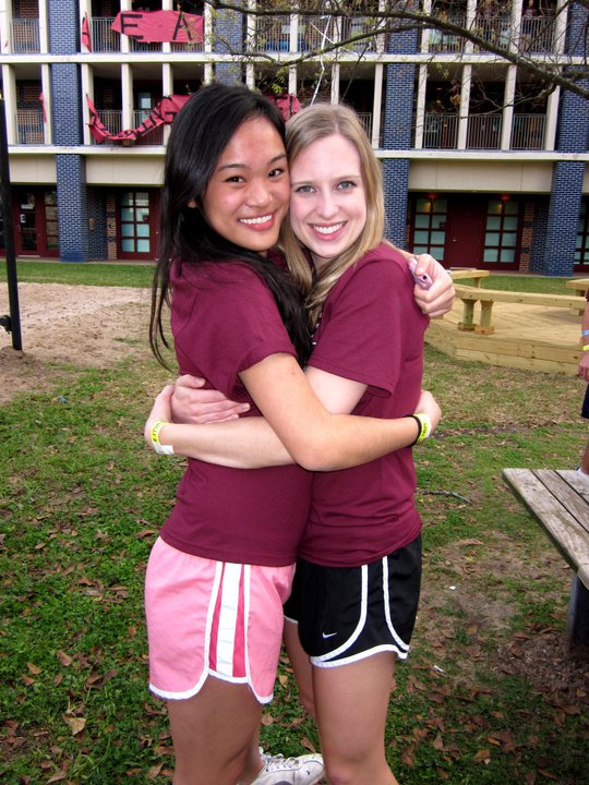 This is my beautiful friend Tiffany. We were assigned to be roommates freshman year and ended up living together for our entire time in college. We are the perfect pair, and I am devastated that she won't be at Beer Bike this year. Miss you, Tiff!