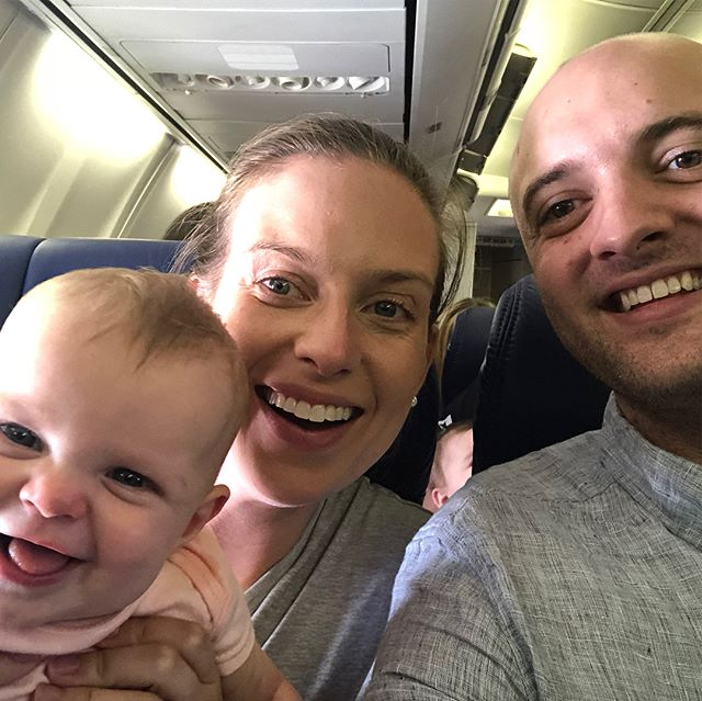 Traditional Clark family plane selfies to close out the trip. Austin, here we come!!