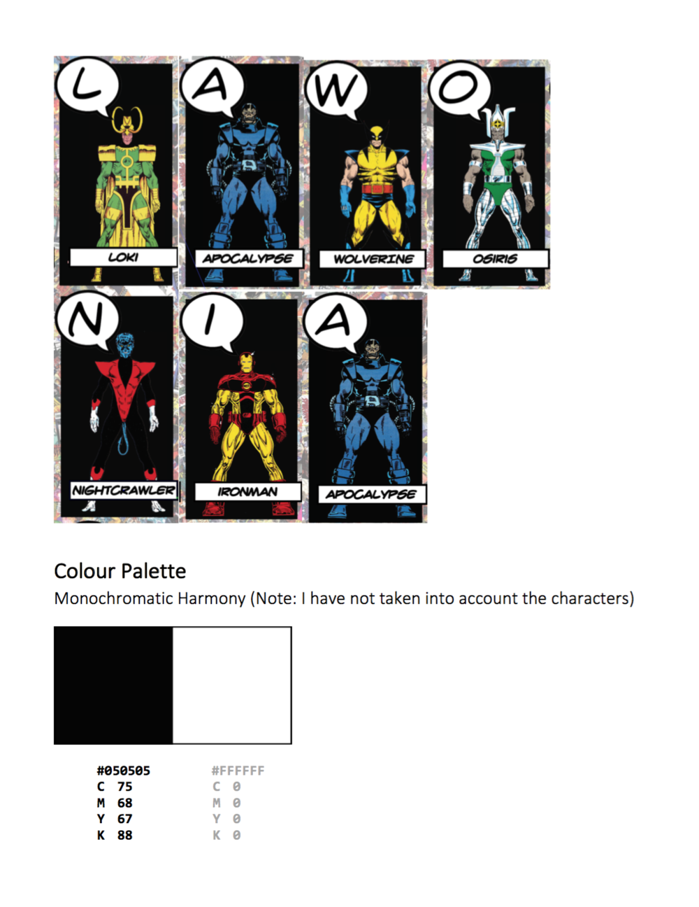 Colour Palette And Troublesome Alphabet Modules