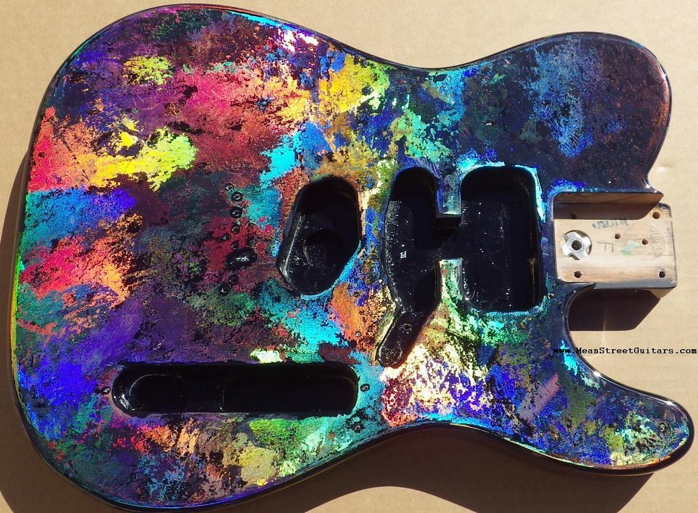 Mean Street Black Fusion Holoflash Telecaster Andrea C pic 1.JPG