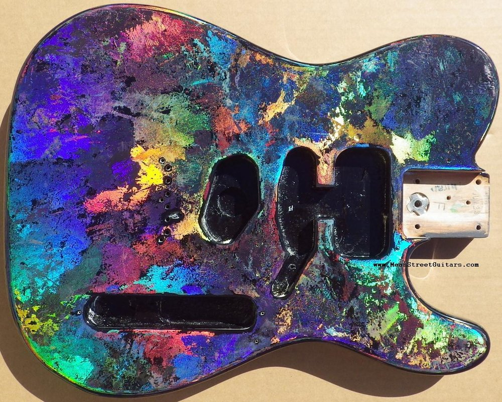 Mean Street Black Fusion Holoflash Telecaster Andrea C pic 3.JPG
