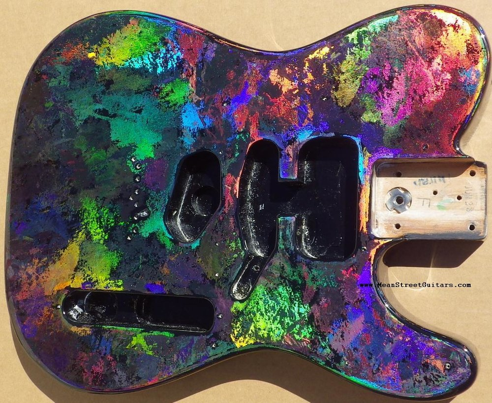 Mean Street Black Fusion Holoflash Telecaster Andrea C pic 4.JPG