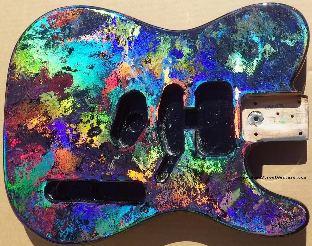 Mean Street Black Fusion Holoflash Telecaster Andrea C pic 5.JPG