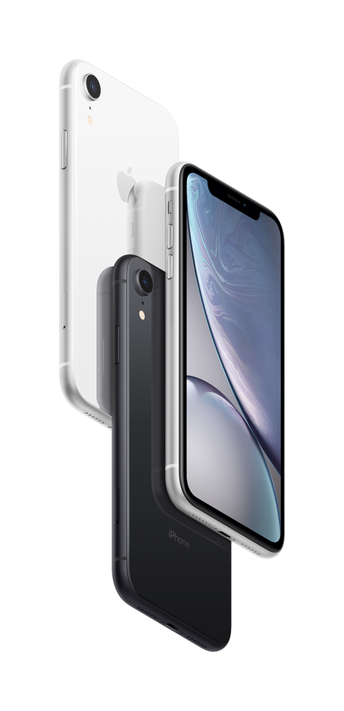 iPhoneXr white black blue