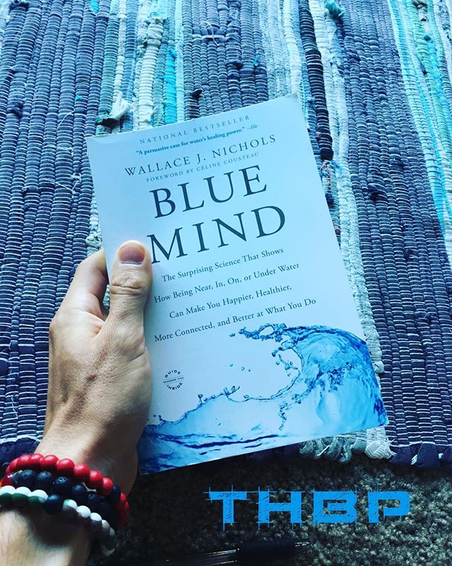 Fascinating read! Have you guyz read it?! This book explores all about the profound psychological, physiological and spiritual health benefits of being in, on or near water. Definitely recommend checking this book out! @thehumanbluprint