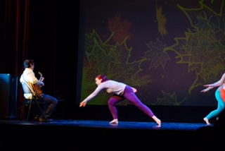 John Lee performs with dancers in Sylvana Christohper's Harvest Moon. Photos and videos in this post by Rob Cannon.