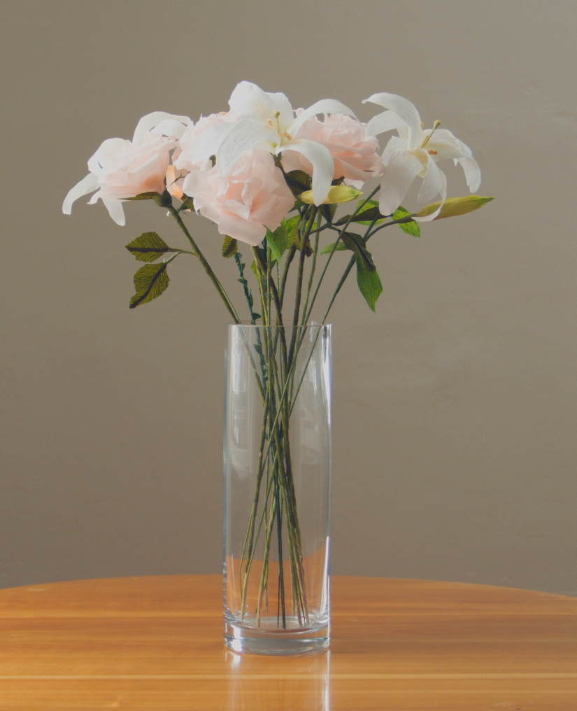 White Lillies/Pink Roses $135
