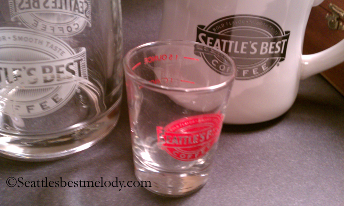 2 - 1- Seattles Best 2 mugs and a shot glass 1556