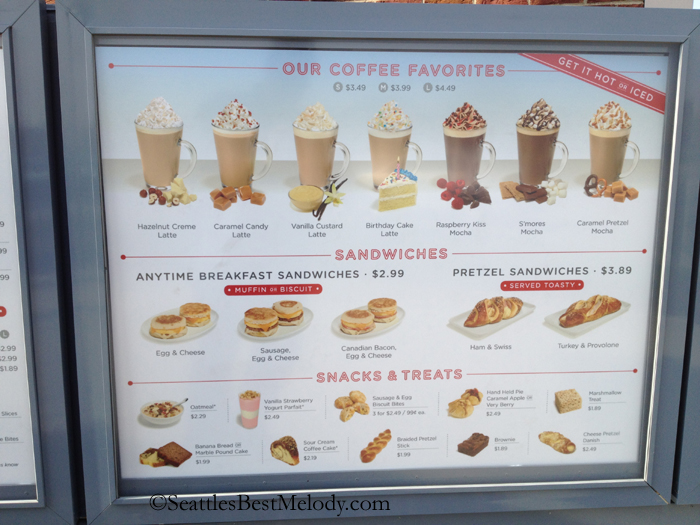 2 - 3 - 5 - Snack drive thru menu Seattles Best Coffee Illinois