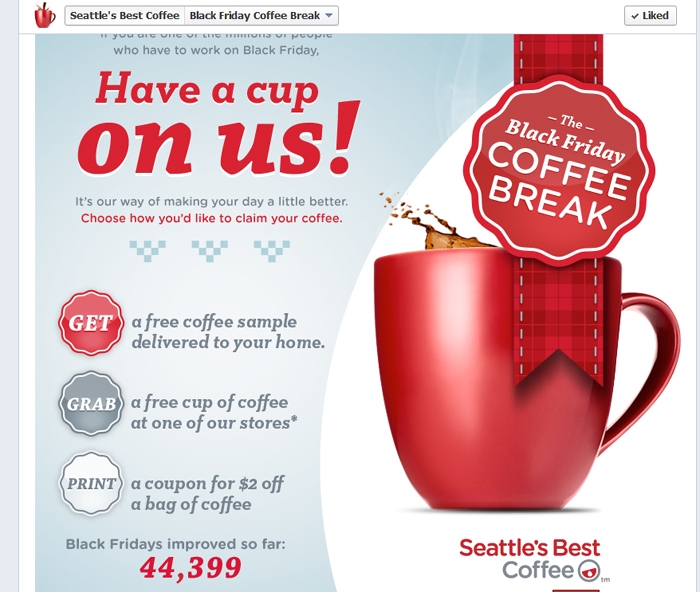 Black Friday Free Coffee Giveaway
