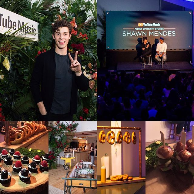 Such an honor to cater for @ShawnMendes & @YouTube 🤩 #movieinthepark indoor event 📸(main photos): @noagriffel • #cateringforthestars #shawnmendes #alchemiq #catering #cateringnyc #nyccatering #nyccaterer #caterer #event #alchemiqevents #zukowiec #events #pretzels #sliders #cheesecake #artistspotlight #artistspotlightstories #youtube