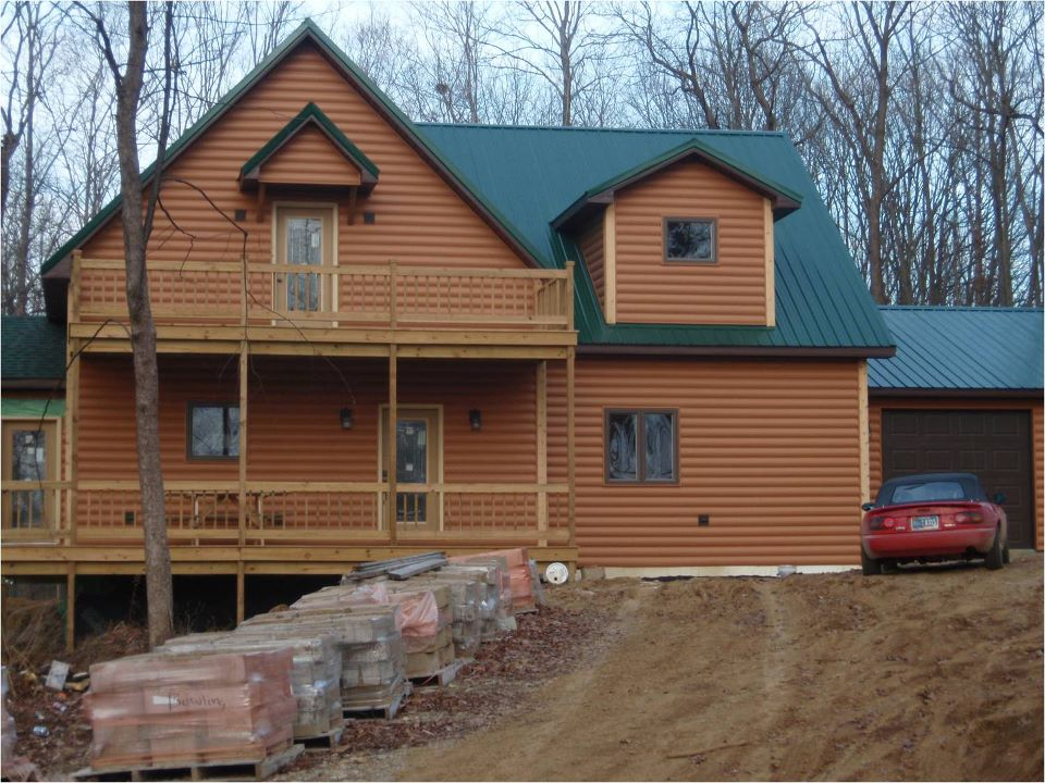 Timbermill E log siding