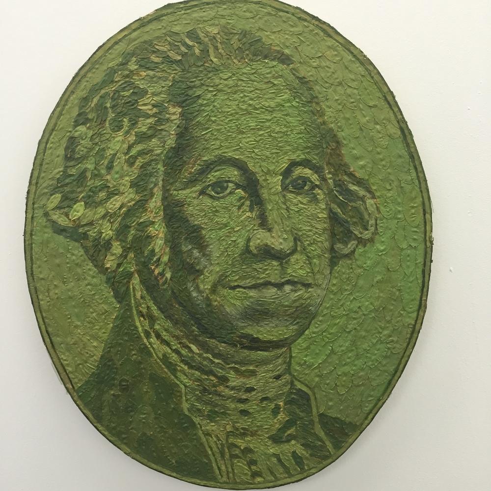 Series of Monetary related art using coca leaves as medium!
