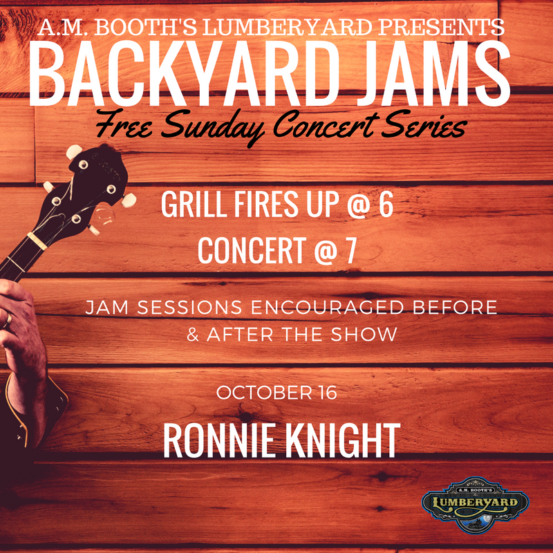 Ronnie Knight Sunday, October 16 at 7 p.m.