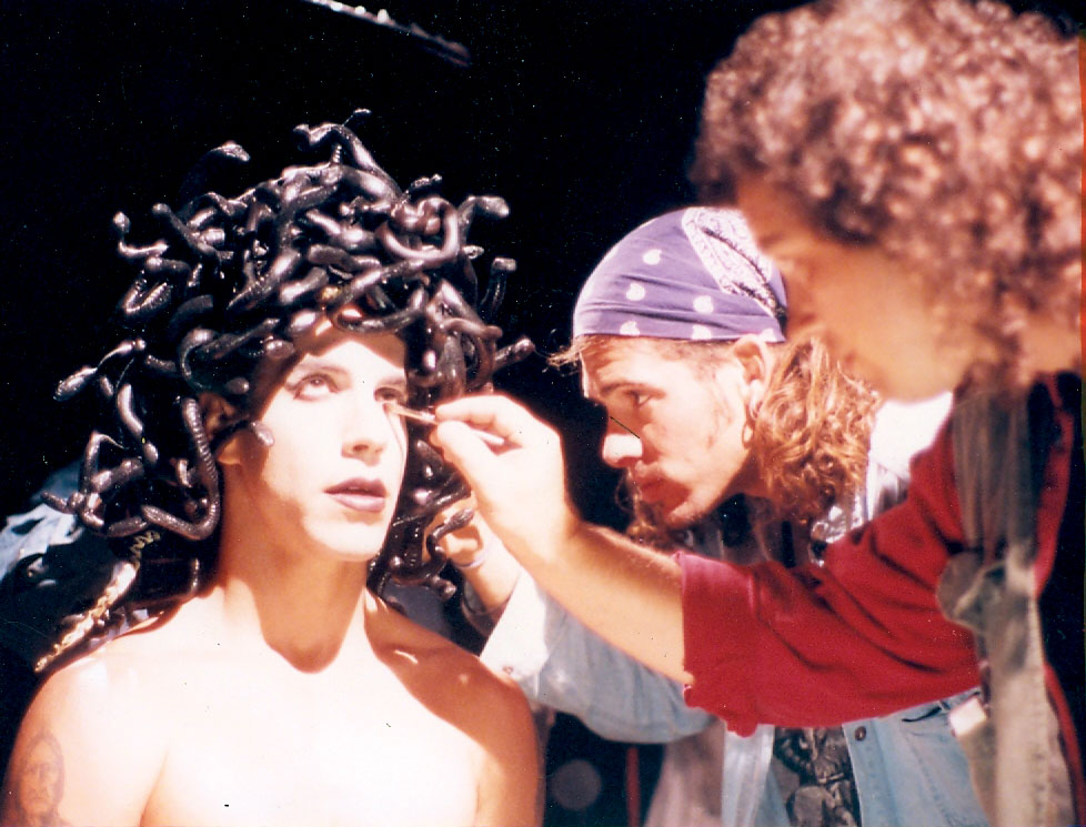 Michael Key Makeup on Anthony Kiedis of Red Hot Chili Peppers on Soul to Squeeze Tour 1993.jpg